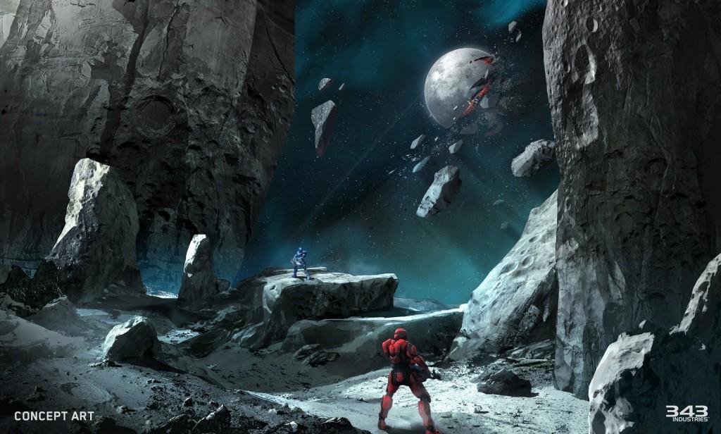 Halo 5 Guardians Tyrant Concept Art Faceoff